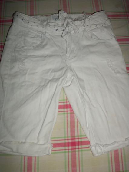 Bermuda Short De Niña Epk Talla 8 Blanco Usado