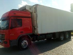 Mb 2430, 2017, Vermelho, Truck 6x2 + Câmara Fria 2014. R8775
