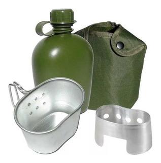 Cantil Tático Militar C/ Caneca E Espiriteira Alumínio 1 Lt
