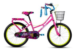 Bicicleta Mercurio Evergreen Para Niña Rodada 20