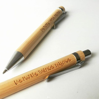 Boligrafo Lapicera De Madera Bambú Personalizado Grabado