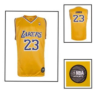 Camiseta Basquetbol Nba A Lakers Lebron James 23 Lic Oficial