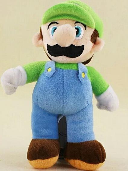 Boneco Luigi De Pelúcia 25cm - Super Mario Bros - Promoção