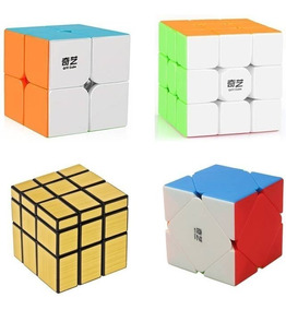 Cubo Mágico Profissional 2x2 3x3 Skewb Mirror Blocks Qiyi To