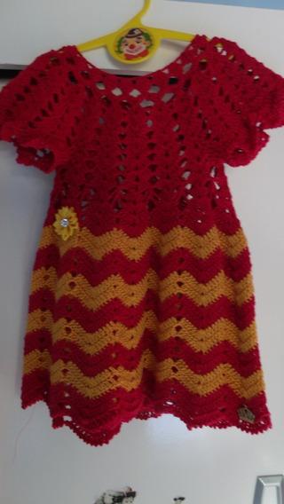 Vestido De Crochê Rn