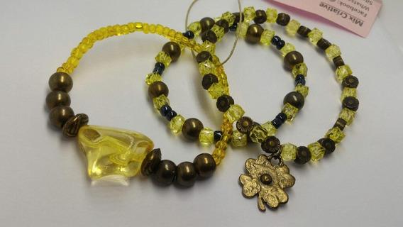 Conjunto Bracelete Yellow