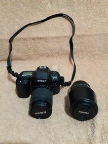 Câmera Analógica Nikon F70 + 2 Lentes E Maleta