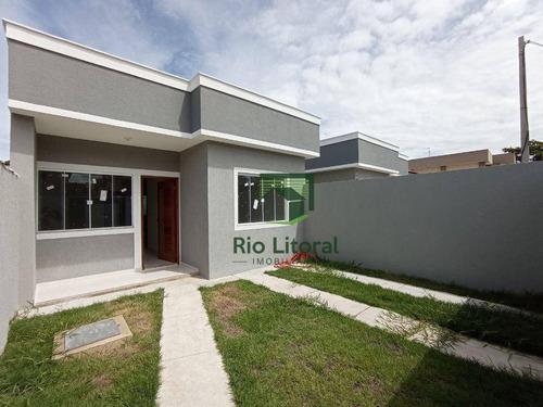 Casa Com 2 Dormitórios À Venda, 67 M² Por R$ 285.000,00 - Extensão Do Bosque - Rio Das Ostras/rj - Ca1030
