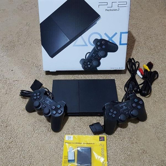 Playstation 2 Slim + 2 Controle + Memory Card