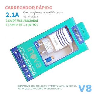P500 - Kit C/ 5 Carregador Carga Rápida G56 2.1 Para LG
