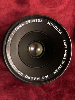 Lente Minolta Vintage Mc Macro Rokkor Qf 1:3.5 F=50mm