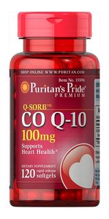 Coq10 X 120 Caps 100mg - Coenzima Q10 Puritan´s Pride