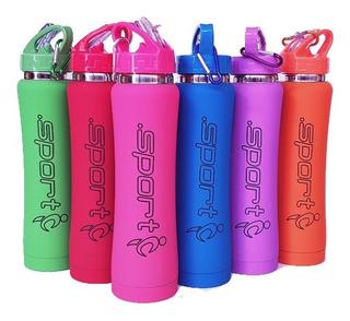 Botella Termica Deportiva X 500ml Colores + Cepillo Limpieza