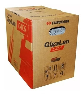 Bobina Cable De Red Furukawa Cat 6 Gigalan 305 Mts