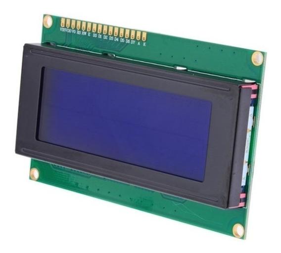 Lcd 20x4 Com Backlight Azul / Branca Arduino Pic + Pinos