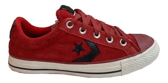 Zapatilla Converse Star Player Gamuza Rojo