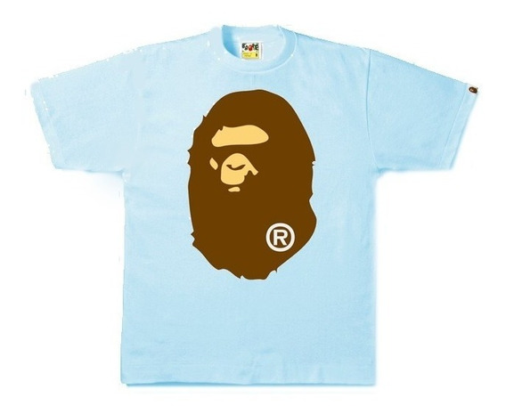 Playera Bape A Bathing Ape - Big Ape Head - Sax - Talla 3xl