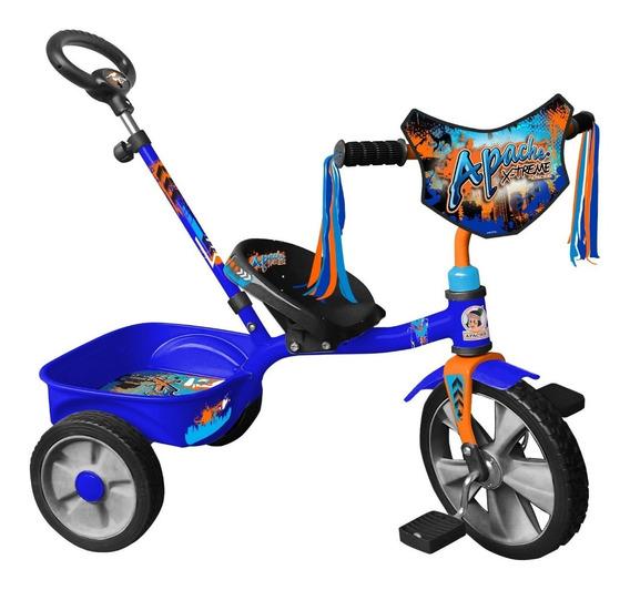 Triciclo Apache Xtreme Rodada 12 Cajuela Y Baston