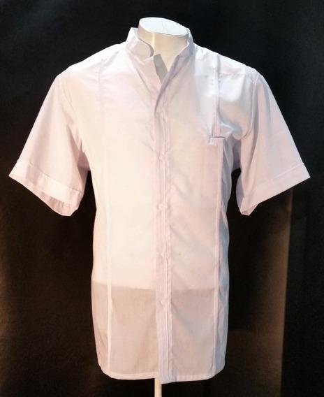 Guayabera De Manta Marca N Ken 000 Color Blanca