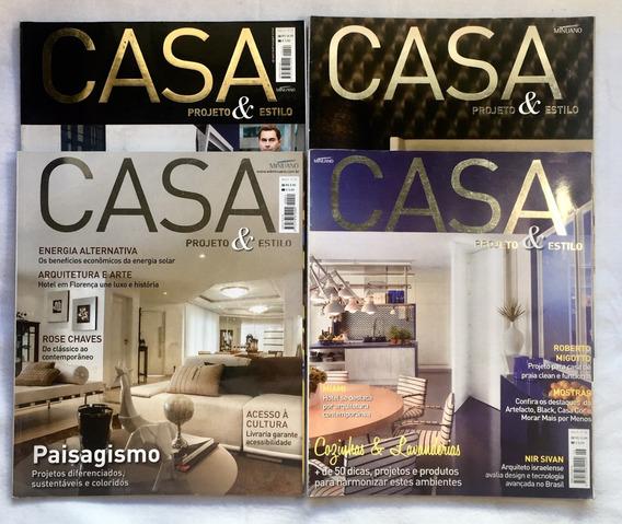 Lote 4 Revistas Casa Projeto E Estilo Com Frete Grátis