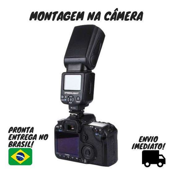 Flash Para Canon E Nikon Triopo Tr950 Tr 950 T5 T5i T4 T3 T6