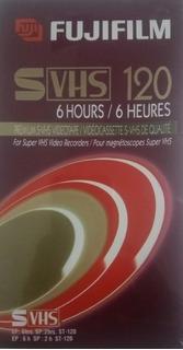 Casette De Video Super Vhs Fuji Premium Svhs 6hs Ep