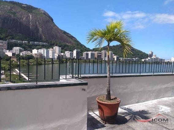 Conjugado Na Lagoa, Vista Panorâmica - À Venda, 25 M² Por R$ 480.000 - Lagoa - Rio De Janeiro/rj - Ap4374