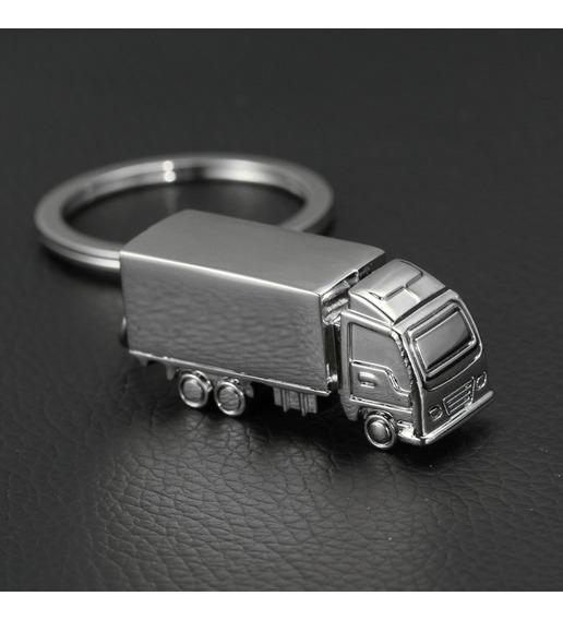 Llavero En Forma De Camion Trailer Carro Acero Inox Argolla