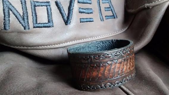Bracelete Pulseira Em Couro Nove13