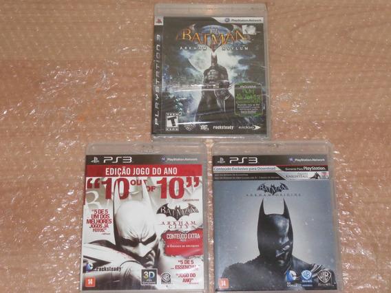 Batman Arkham Asylum , Arkham City , Arkham Origins - Ps3