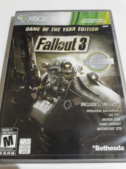 Fallout 3 Game Of The Year Edition Xbox 360 Mídia Física