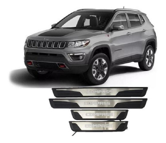 Soleira Iluminada Led Jeep Compass 2017 A 2019
