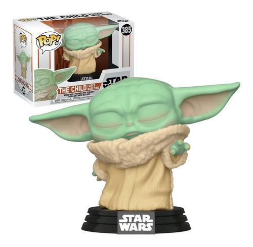 Funko Pop! 385 Yoda Child Force Wielding Mandalorian