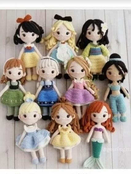 Patrones Amigurumi Crochet Princesas Disney Sirenita Elsa An