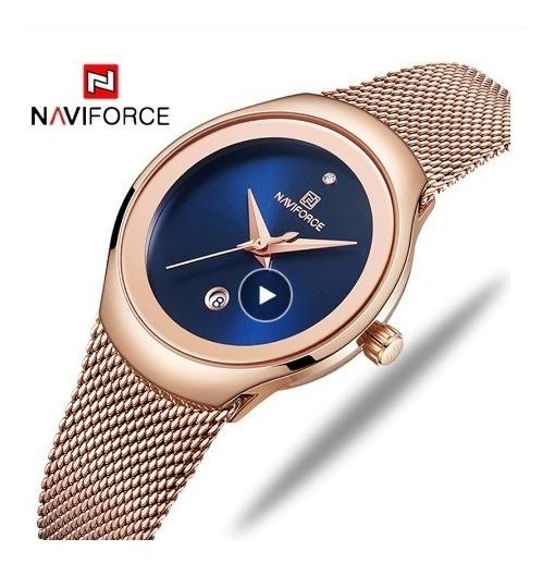 Relógio Feminino - Naviforce - De Luxo - Garantia 12 Meses