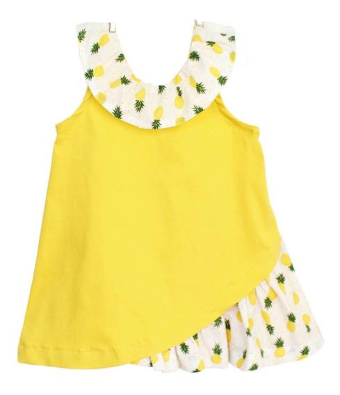 Vestido Fiesta Creamy Praga Amarillo Para Niña Twiggy G
