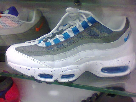 Tenis Nike Air Max 95 Branco/azul/cinza Nº38 Ao 43 Original