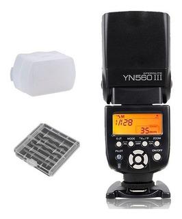 Flash Yongnuo   Yn560 Iii   Para Canon, Nikon Sony   Regalo