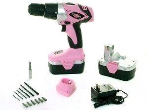 Kit Taladro Pink Power Pp182 18v Sin Cable Para La Mujer
