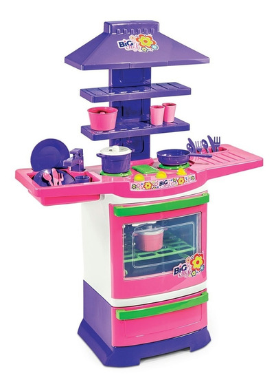 Brinquedo Cozinha Infantil Completa Menina Fogãozinho