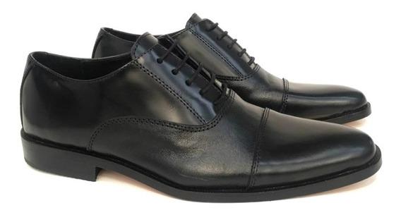 Zapato Vestir Cuero Hombre Base Suela Puerto Blue