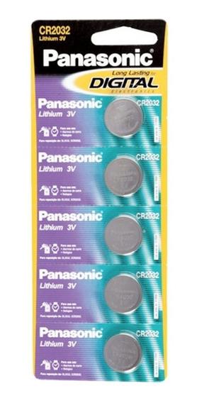 Bateria Lithium Panasonic Cr2032 3v 1 Cartela C/5 Pilhas
