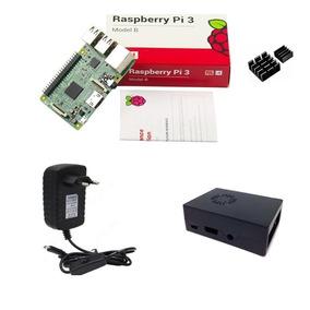 Kit Básico Raspberry Pi 3 - Case Com Cooler