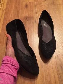 Padrisimos Zapatos Flats Toms Piel Negra 100% Originales!!