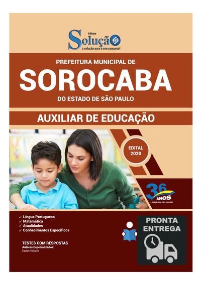 Apostila Auxiliar De Educação Prefeitura Sorocaba Livro