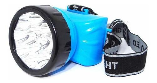 Lanterna De Cabeça 722-b 12 Leds Ideal Para Caça Pesca Camp