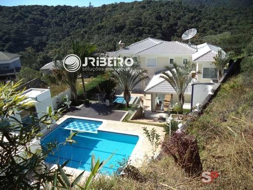 Casa Em Condomínio Na Serra 3 Suítes, 4 Vagas, Piscina, Espaço Gourmet Para Venda Em Centro Mairiporã-sp - 84528