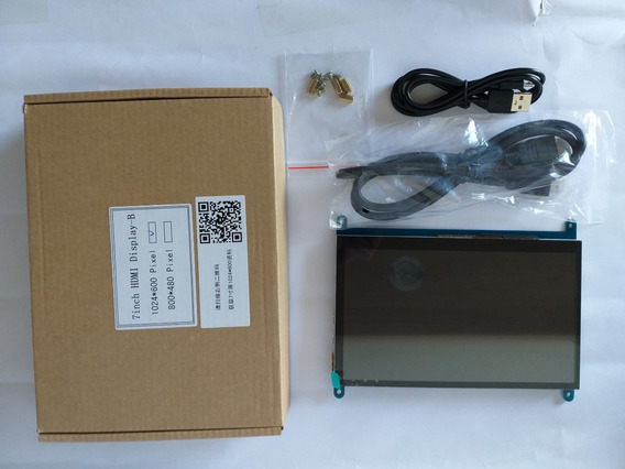Tela Lcd Touch Hdmi 7 1024x600 Raspberry Pi B B+ Plus + Case