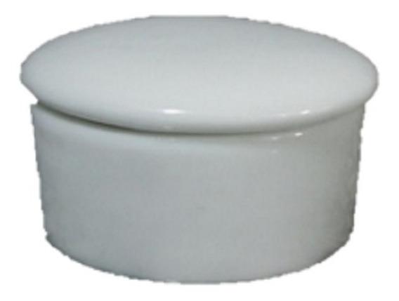 Kit 50 Porta Joia Redondo Reto Gd Porcelana Branca Lembrança
