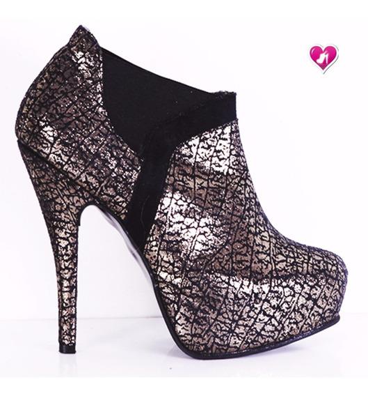 Botinetas Botitas Gamuzadas Modelo Tanya 2 De Shoes Bayres